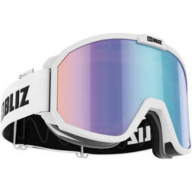 Bliz Rave M13 Glasses matt white/nano optics brown with blue multi